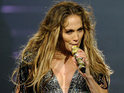 Jennifer Lopez says she cried on stage while reminiscing about past romances.
