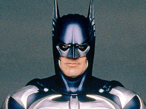 "George Clooney as Batman in ""Batman and Robin"""