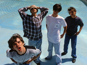 The Stone Roses in a promotional shoot, 1989