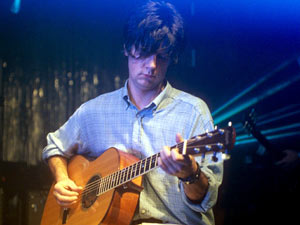 John Squire during a Stone Rosees performance at the Corn Exchange, Cambridge in 1995