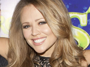 Kimberley Walsh at Shrek press night