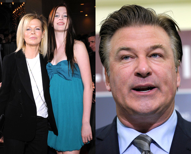 Alec Baldwin, Ireland Baldwin and Kim Basinger