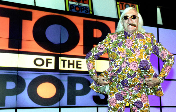 Sir Jimmy Saville at the launch of TOTP's new HQ at the BBC TV centre in 2001