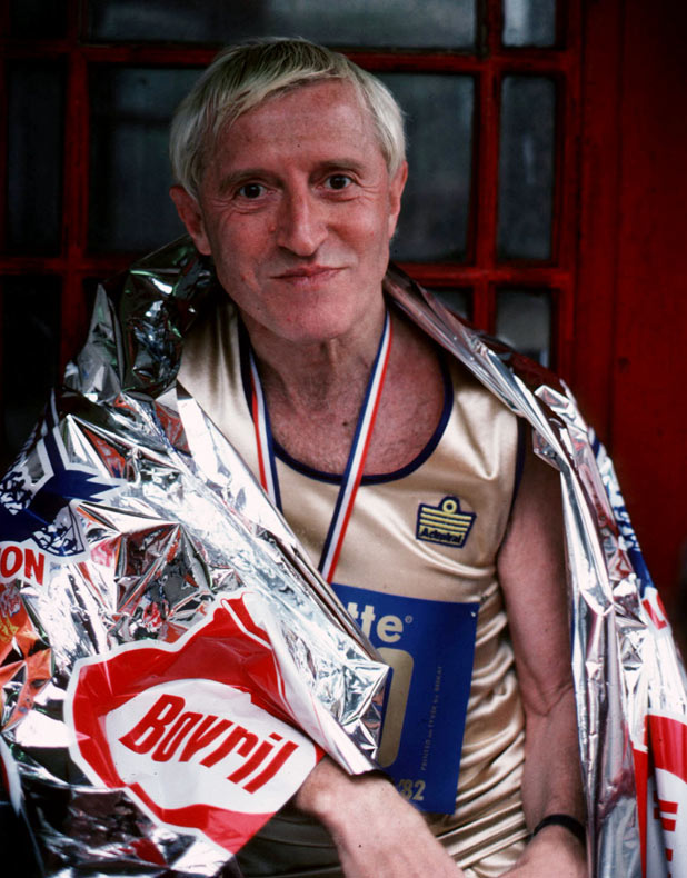 After the London Marathon in 1982