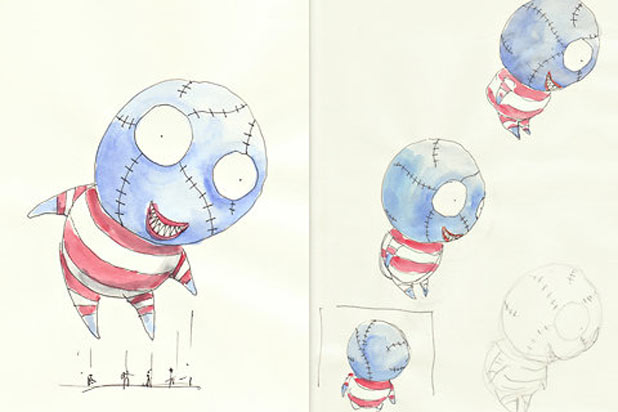 Tim Burton's B. Boy character sketches from Macy's