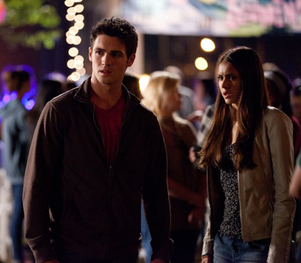 Steven R McQueen as Jeremy and Nina Dobrev as Elena