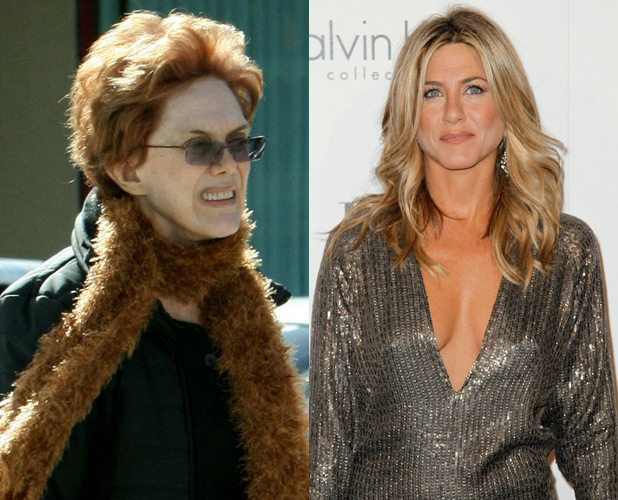 Jennifer Aniston and mother Nancy Dow