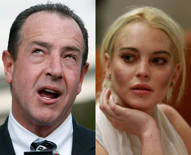 Lindsay Lohan and Michael Lohan