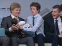 James and Harry squabble over their baby product in tonight's Young Apprentice.