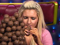 Housemates correctly guess how many chocolate balls Alex could eat.