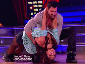 DWTS S13E11: Hope Solo and Maksim Chmerkovskiy
