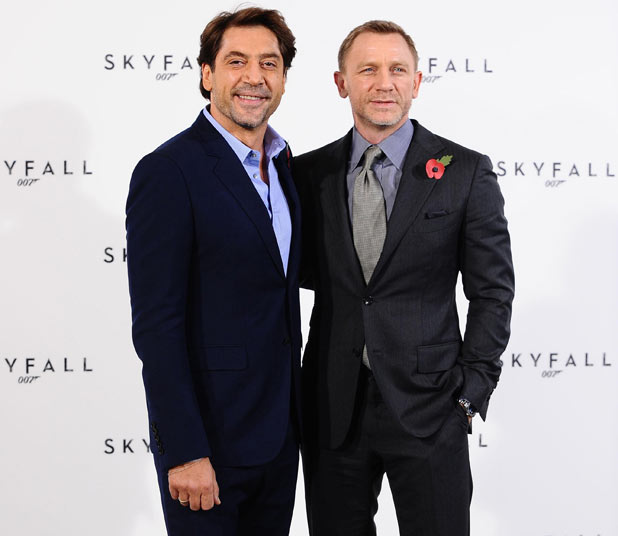 Javier Bardem and Daniel Craig