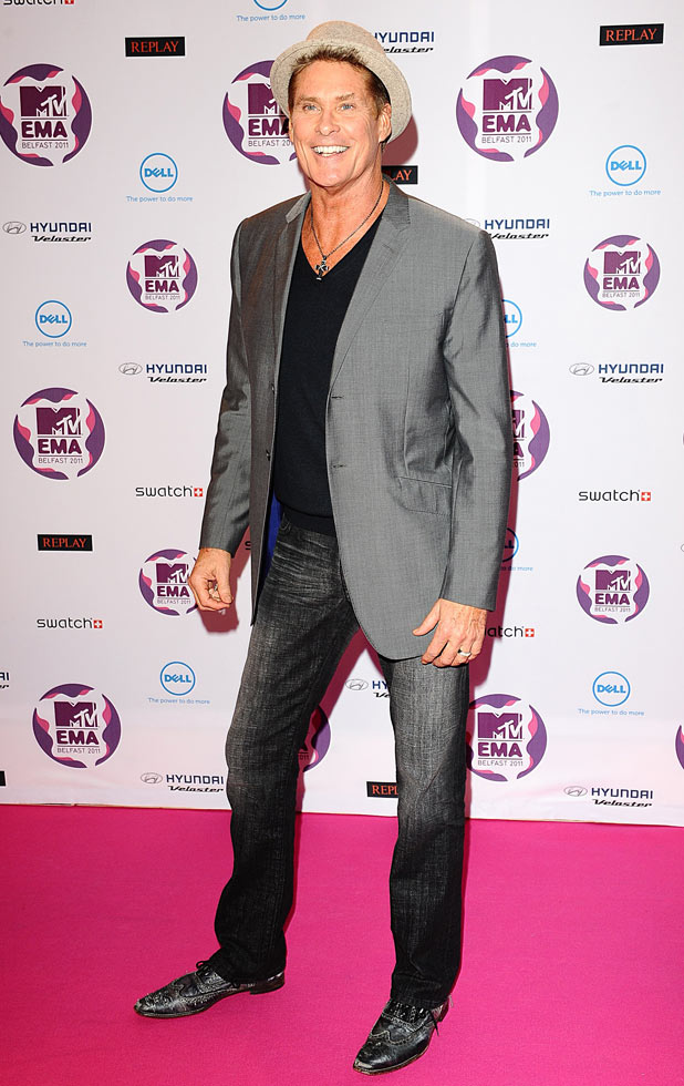 MTV Europe Music Awards 2011: David Hasselhoff