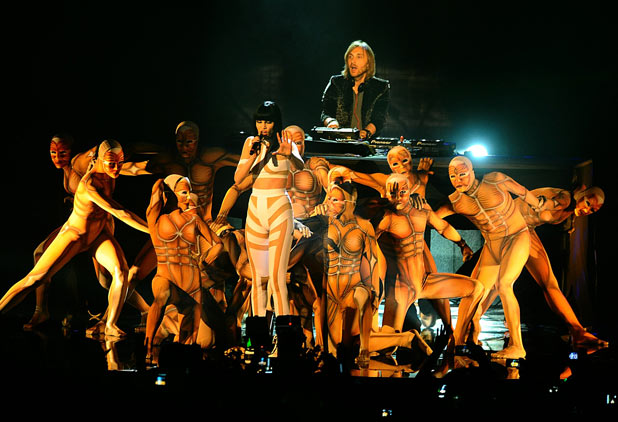 EMAs 2011: Jessie J and David Guetta