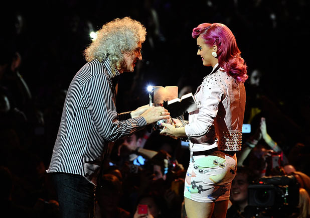 EMAs 2011: Brian May and Katy Perry