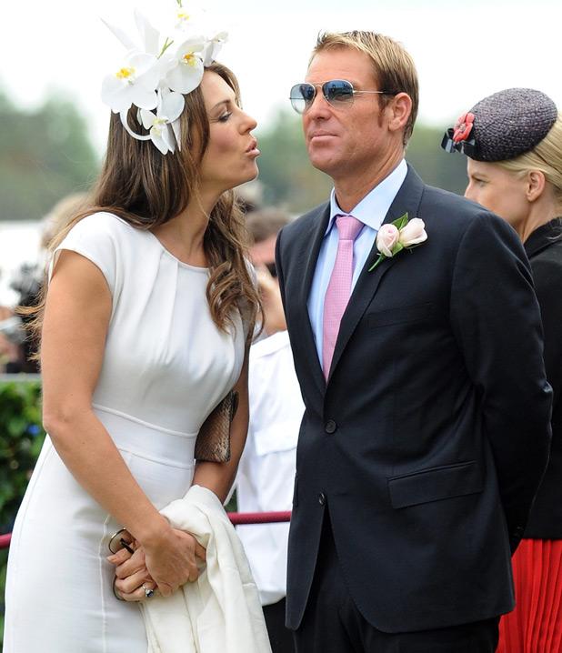 Liz Hurley and Shane Warne