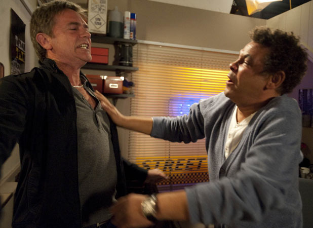 Lloyd Mullaney (Craig Charles) and Karl Munro (John Michie)