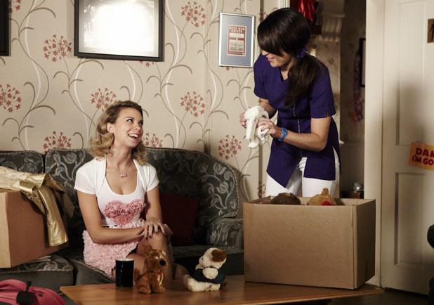 Jodie and Poppy pack up their belongings