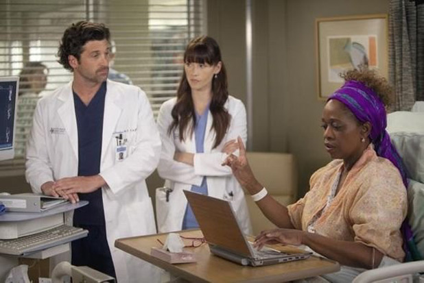 Derek, Lexie and a patient