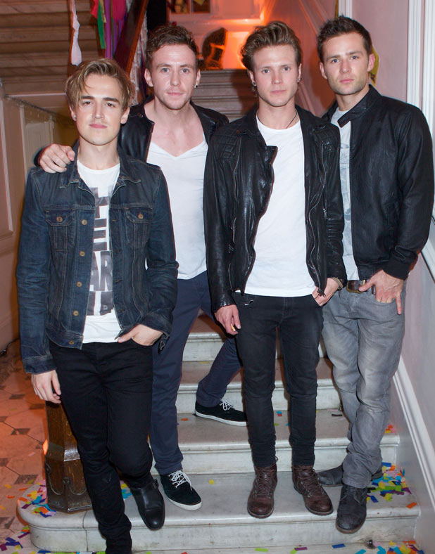 Tom Fletcher, Danny Jones, Dougie Poynter and Harry Judd from McFly