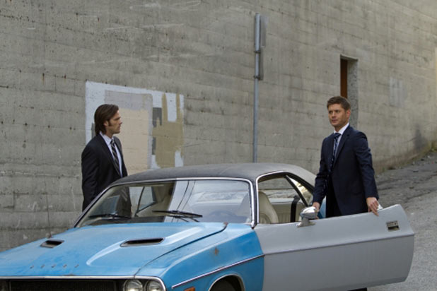 Jared Padalecki as Sam Winchester and Jensen Ackles as Dean Winchester