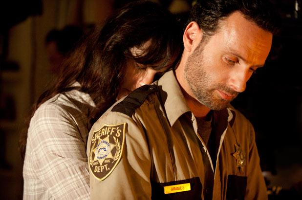 Lori Grimes (Sarah Wayne Callies) and Rick Grimes (Andrew Lincoln)