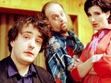 Dylan Moran, Bill Bailey and Tamzin Greig in 'Black Books'