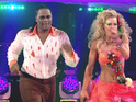 Audley Harrison's wife allegedly blames Lowe for their poor Strictly showing.