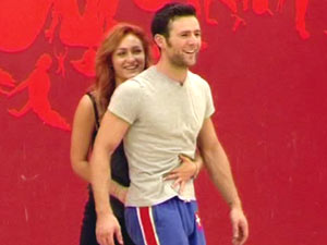 Harry Judd and Aliona Vilani in rehearsals on 'Strictly Come Dancing - It Take Two'