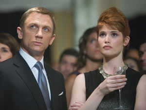 Craig with Gemma Arterton in 2008's Quantum of Solace