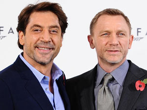 Daniel Craig and Javier Bardem at the James Bond: Skyfall photocall