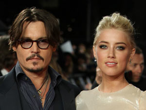 Johnny Depp and Amber Heard together on the red carpet.