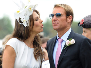 Liz Hurley and Shane Warne