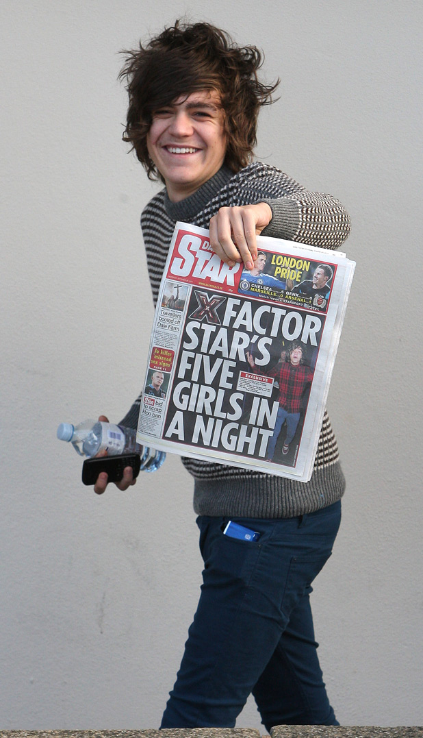 Frankie with the Daily Star