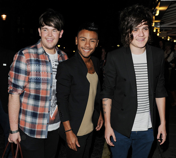 Craig Colton, Marcus Collins and Frankie Cocozza