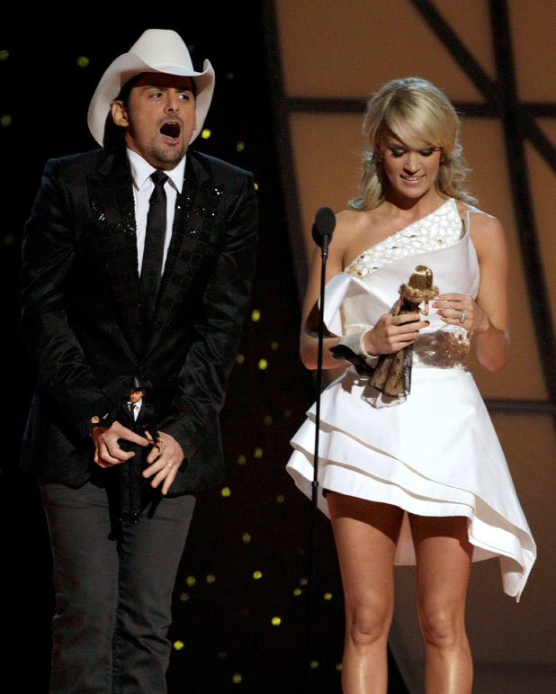 Hosts Carrie Underwood and Brad Paisley
