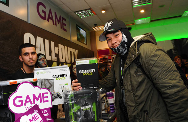 Call of Duty: Modern Warfare 3 midnight launch at GAME, Oxford Street