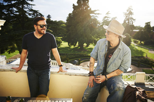Ricky Gervais, Johnny Depp