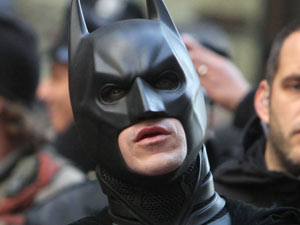 Christian Bale as Batman on the set of 'The Dark Knight Rises'