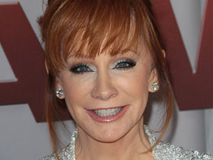 Country music legend Reba McEntire on the red carpet.