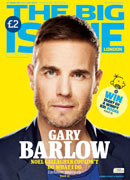 Gary Barlow on the cover of The Big Issue