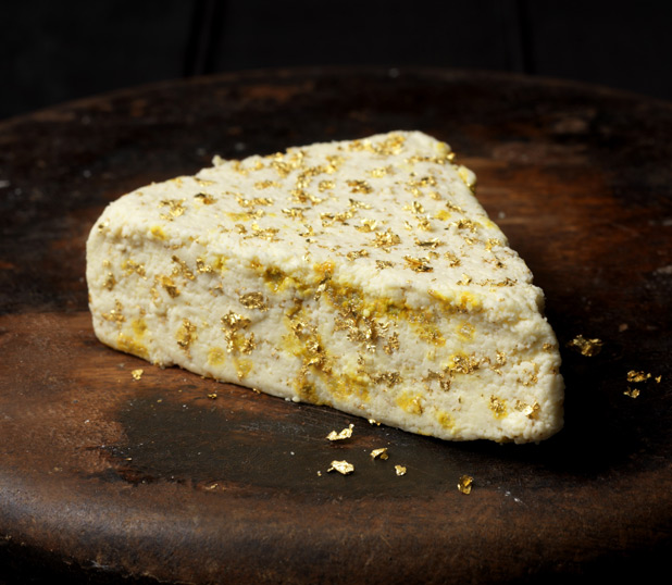 Clawson Stilton Gold cheese made with gold
