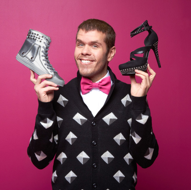 Perez Hilton designs shoes for charity