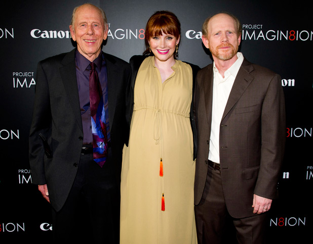 Rance Howard, Bryce Dallas Howard and Ron Howard