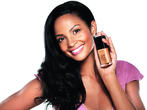 Alesha Dixon modelling her Avon product 'Flawless'
