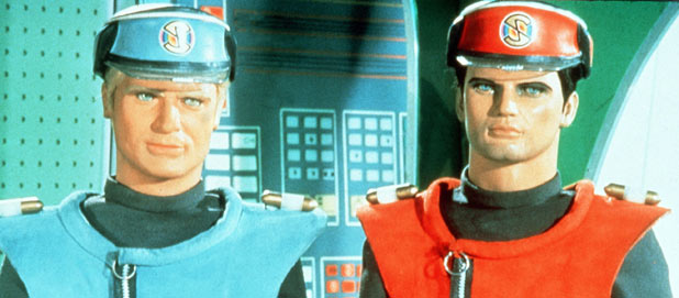 Captain Blue and Captain Scarlet from 'Captain Scarlet And The Mysterons'