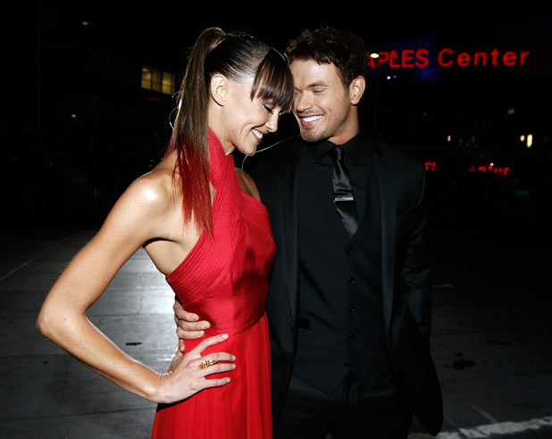 Kellan Lutz with his girlfriend Sharni Vinson