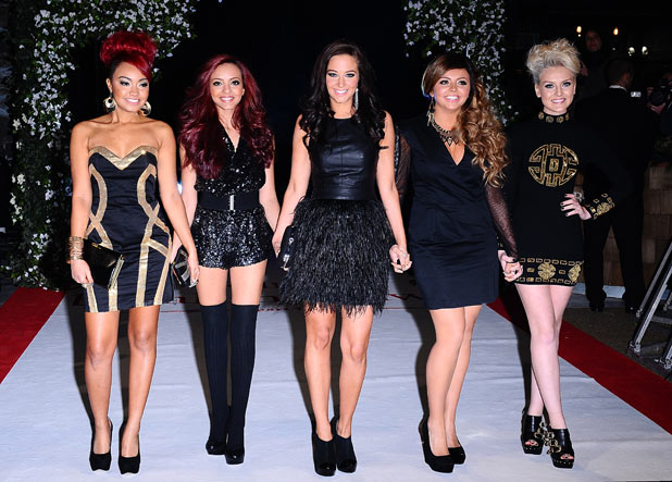 Tulisa Contostavlos with The X Factor's Little Mix