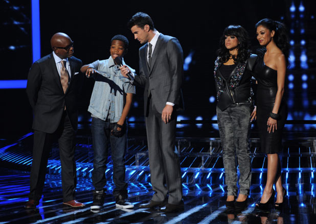 The X Factor USA Top 10 Results Show: L.A. Reid, Astro, Steve Jones, Stacy Francis and Nicole Sherzinger
