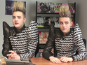 Jedward talk to Digital Spy about their new video featuring Tara Reid.